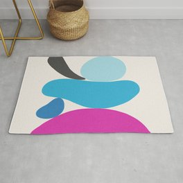 Turquoise & Hot Pink Scoop \\ Abstract Rug