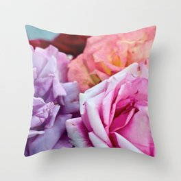 The Happiness of Roses Throw Pillow
