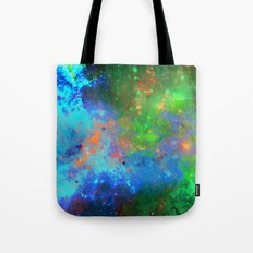 Speed Of Light - Abstract space painting Tote Bag