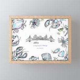 Lovely Seafood in Pittsburgh Framed Mini Art Print