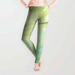 Light green marble Leggings
