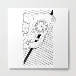 Bulging _ Eye _ Lord <L . I . N . E . W . O . R . K> | Black and White | Metal Print