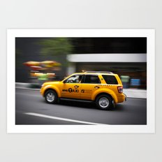 Follow that car Art Print