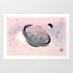 RED SPACE - 010 Art Print