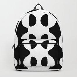 BLACK AND WHITE GEOMETRIC WAVES AND HALF CIRCLE Backpack