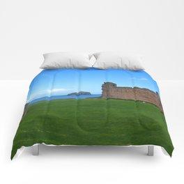 Bass Rock from Tantallon Castle, North Berwick, Scotland Comforters