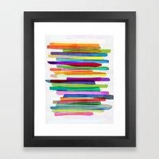 Colorful Stripes 1 Framed Art Print