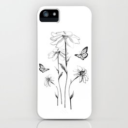Flowers and butterflies 2 iPhone Case