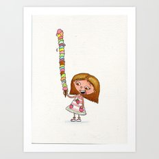 Icecream Art Print