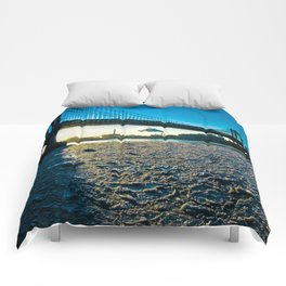 Ice Floe under the Manhattan Bridge Comforters