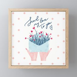 SEND MY LOVE TO YOU Framed Mini Art Print