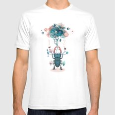 funny beetle Mens Fitted Tee White MEDIUM