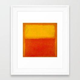 1956 Orange and Yellow by Mark Rothko HD Framed Art Print