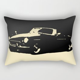 MGB, Black on Cream Rectangular Pillow