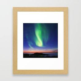 The Northern Lights 01 Framed Art Print