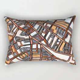 Abstract Map - Porter Square Somerville Rectangular Pillow