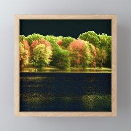 Autumn At Night Framed Mini Art Print