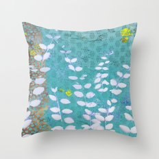 Ferns And Blue Skies Throw Pillow
