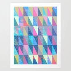 Candy Triangles Art Print