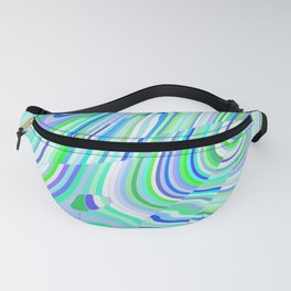 Green and Blue Abstract Fanny Pack