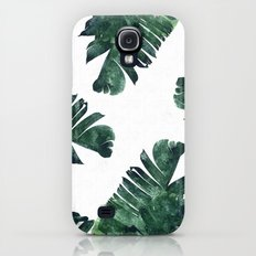 Banana Leaf Watercolor Pattern #society6 Slim Case Galaxy S4
