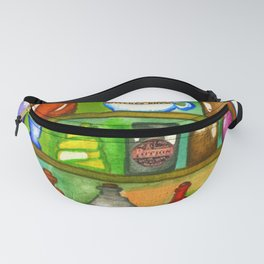 Potion Bottles On The Shelf Fanny Pack