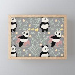 PLAYFUL PANDA Framed Mini Art Print
