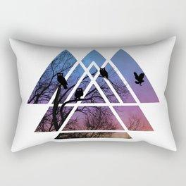 Night Wisdom - Sacred Geometry Triangels Rectangular Pillow