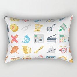CUTE MUSICAL INSTRUMENTS PATTERN Rectangular Pillow