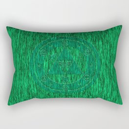 Zelda Green Art Triforce Rectangular Pillow