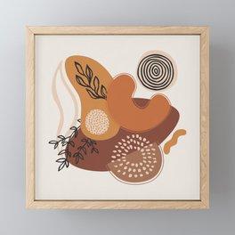 Fall Shapes & Plants III Framed Mini Art Print