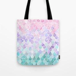 Mermaid Pastel Iridescent Tote Bag