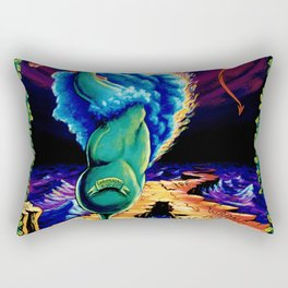 Trippy Psychedelic Surreal Visionary Art by Vincent Monaco - Strength Rectangular Pillow