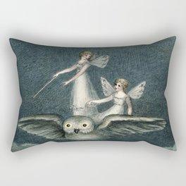 """Faeries Riding On an Owl"" by Amelia Jane Murray Rectangular Pillow"