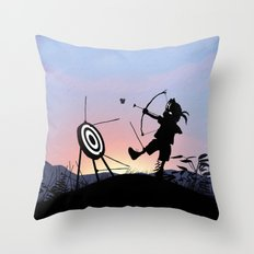 Hawkeye Kid Throw Pillow