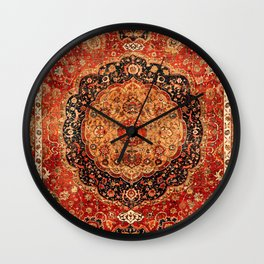 Seley 16th Century Antique Persian Carpet Print Wall Clock