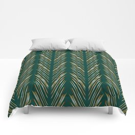 Wheat Grass Teal Comforters