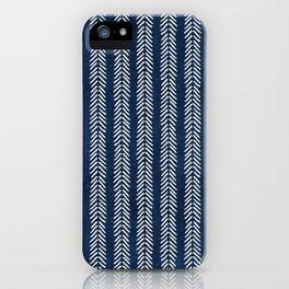 Mud cloth - Navy Arrowheads iPhone Case