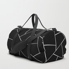 Black White Geometric Glam #2 #geo #decor #art #society6 Duffle Bag