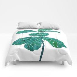 fiddle leaf fig watercolor Comforters