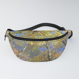 Brightly colored Autumn tree tops Fanny Pack