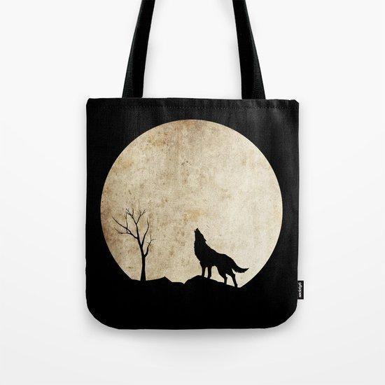 Wolf night Tote Bag