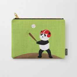 Play baseball together with a panda. Carry-All Pouch