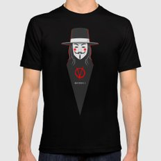V for vendetta November 5 Minimal Poster Black MEDIUM Mens Fitted Tee