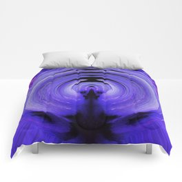 3-D Purple Winged Hibiscus v.3 Comforters