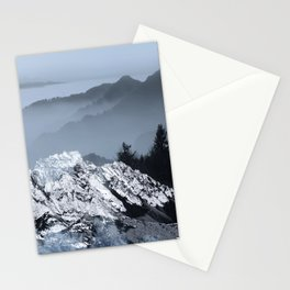 FOGGY BLUE MOUNTAINS Stationery Cards