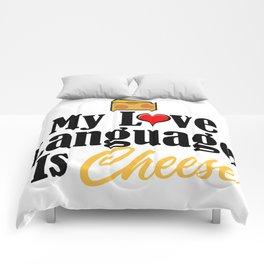 Love Language Cheese Dairy Foodie Junk Food Comforters