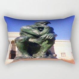 """Auguste Rodin's ....""""The Thinker"""" Rectangular Pillow"""