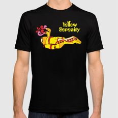 Yellow Serenity Mens Fitted Tee Black X-LARGE