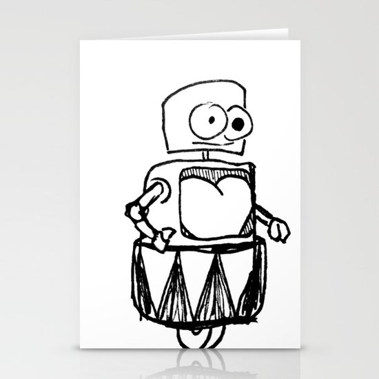 Roller Robot Stationery Cards